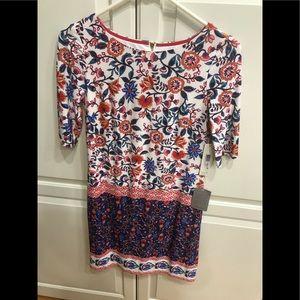 Eliza J lined print dress